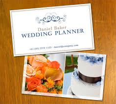 wedding planner business free business card templates