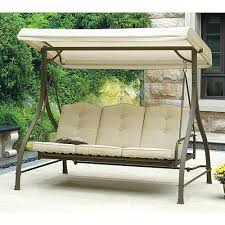 outdoor glider with canopy coral coast siesta 3 person canopy