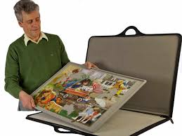 jigsaw puzzle tables portable portable puzzle storage board jigsort jigsaw puzzle case carrier