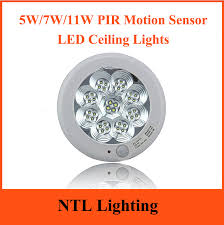 Motion Sensor Ceiling Light 5w 7w 11w Pir Motion Sensor Led Ceiling Lights 15cm 23cm 30cm
