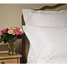 French Bedrooms by Embroidered Hem Stitch Luxury White Bed Linen French Bed Linen