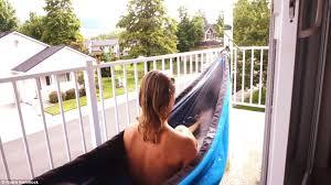tub u0027hydro hammock u0027 for camping that heats and recirculates