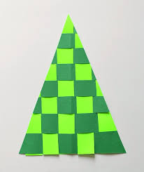 Arts And Crafts Christmas Tree - christmas crafts for kids woven paper christmas tree buggy and