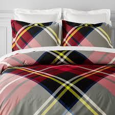 Quilt Duvet Covers Oversized Tartan Bedding Stewart Williams Sonoma