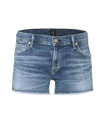 Ava Ai by Citizens Of Humanity Ava Cut Off Denim Shorts Blue Women Citizens