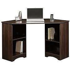 amazon com corner l shaped office desk with hutch black and