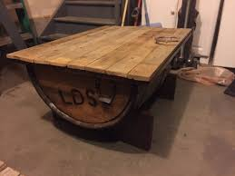 coffee table with cooler ana white whiskey barrel coffee table ice chest beer cooler diy