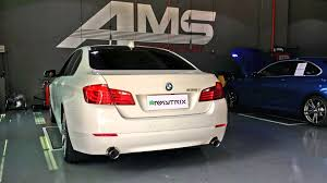 bmw 535i exhaust bmw f10 535i loud revs and launch start with armytrix performance