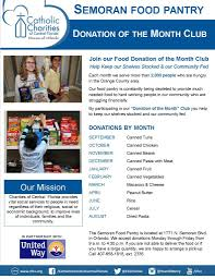 food of the month club join the food pantry donation of the month club diocese of