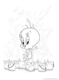 tweety color coloring pages kids cartoon characters