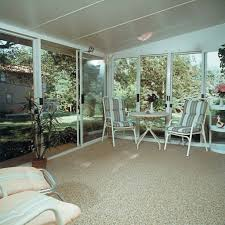 sun room stone and epoxy flooring option