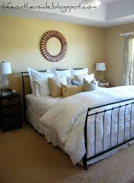 Blue And Gold Bedroom On The V Side Look Ma No Paint Master Bedroom Makeover