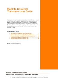 mapinfo universal translator command line interface file format
