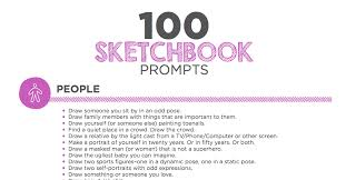100 sketchbook prompts your students will love the art of ed