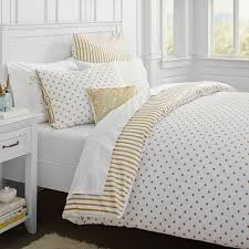 Cover Bed Frame The Emily Meritt Metallic Dottie Duvet Cover Sham Pbteen