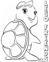 lego friends turtles coloring pages printable