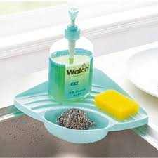 Kitchen Soap Dish Sponge Holder by Kitchen Organizer Sink Caddy Container Plastic Simple Human