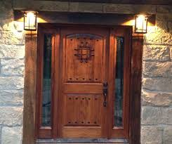 Exterior Doors Discount Rustic Knotty Alder Entry Doors With Sidelights Clearance Priced