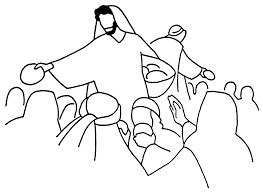 miracles of jesus coloring page clip art library