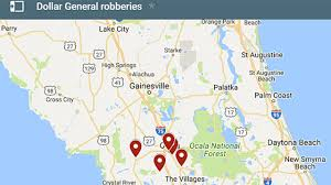 Ocala Fl Map 10th Dollar General Robbery In Marion County Investigated Wftv