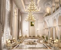 Main Hall Design For A Private Villa At Doha Qatar On Behance