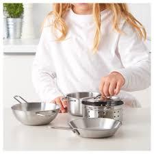 ustensile de cuisine enfant duktig ustensiles cuisson enfant 5 pièces couleur acier inox ikea