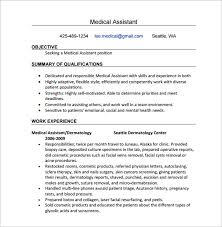 examples of resumes for medical assistants records management