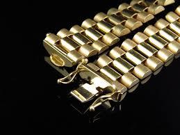 bracelet gold style images Mens 10k yellow gold solid link designer 8 inch bracelet 14 mm jpg