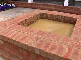 Brick Fire Pits astounding brick fire pit plans garden landscape