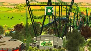 First Six Flags Rct3 The Green Lantern First Flight Six Flags Magic Mountain