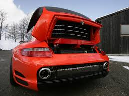 gemballa porsche boxster 2006 gemballa gtr 650 evo orange porsche 997 engine compartment