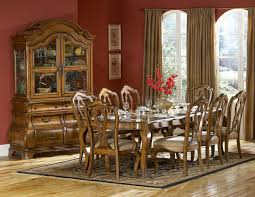 waxed warm brown finish classic dining table w optional items