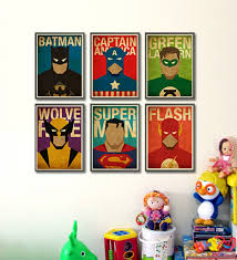 awesome vintage superhero wall decor inspirations interior