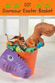 dinosaur easter basket includes dinosaur craft giant toy