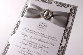 25th wedding anniversary invitations 25th silver wedding anniversary invitations 25th wedding
