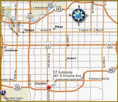 map of chandler az ez autobody map page