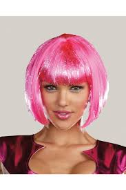 pink wig costume accessory amiclubwear costume online store