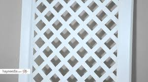 nantucket 7 foot vinyl arch trellis product review video youtube
