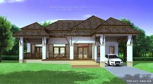Tropical Style Home Plans One Story Modern Tropical House - 1 story home designs
