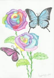 5 latest rainbow rose tattoo designs