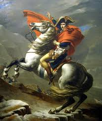 Best Paintings by Jacques Louis David Napoleon At The St Bernard Pass Painting