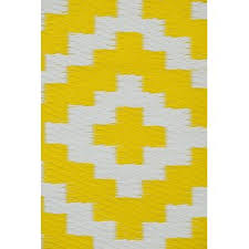 Yellow And White Outdoor Rug Recycled Plastic Outdoor Rugs Wayfair