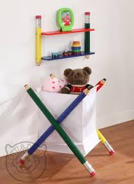 Childrens Bedroom Wall Shelves Pencil Themed Kids Wall Shelving Unit Bookcase Childrens Bedroom