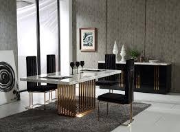 Dining Room Furniture Contemporary Modrest Kingsley Modern Marble U0026 Rosegold Buffet