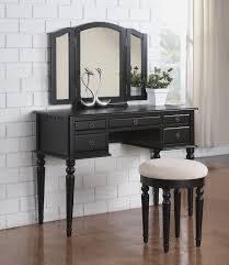 Bedroom Vanity Set Tri Fold Mirror Vanity Set Charlton Home Livingston 3 Piece