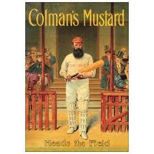 coleman s mustard new colmans mustard cricket retro postcard official vintage image
