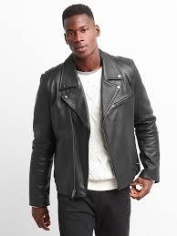 leather biker jacket leather biker jacket gap