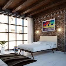 Light Colored Laminate Flooring Mid Century Bedroom Set Clear Coating Mahogany Wood Unique