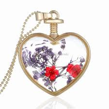 crystal love heart necklace images Wholesale luxury gold plated love heart necklace creative floating jpg