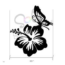 apple wall decals fresh hawaiian hibiscus flower butterfly vinyl